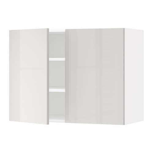 metod l mur tbls 2p blanc ringhult brillant gris clair 80x60 cm ikea. Black Bedroom Furniture Sets. Home Design Ideas