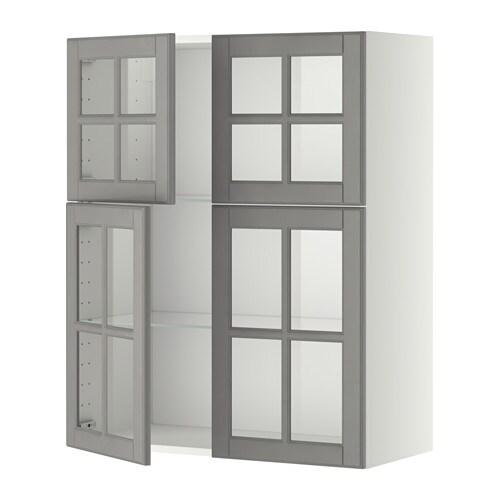 Metod l mur tblts 4p vit blanc bodbyn gris ikea for Ikea element de cuisine