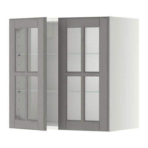 Metod él Mur Tblts 2pts Vit Blanc Bodbyn Gris 60x60 Cm Ikea