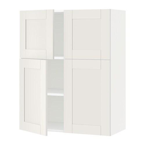 metod l mur tbs 4p blanc s vedal blanc ikea. Black Bedroom Furniture Sets. Home Design Ideas