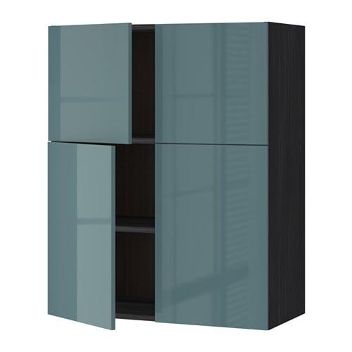 metod l mur tbs 4p effet bois noir kallarp brillant gris turquoise ikea. Black Bedroom Furniture Sets. Home Design Ideas