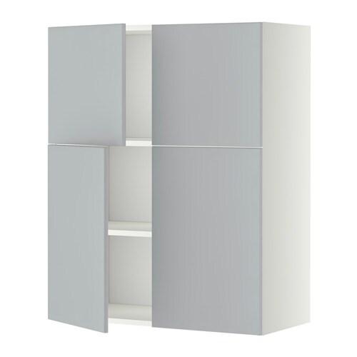 Metod l mur tbs 4p blanc veddinge gris ikea - Protection mur cuisine ikea ...
