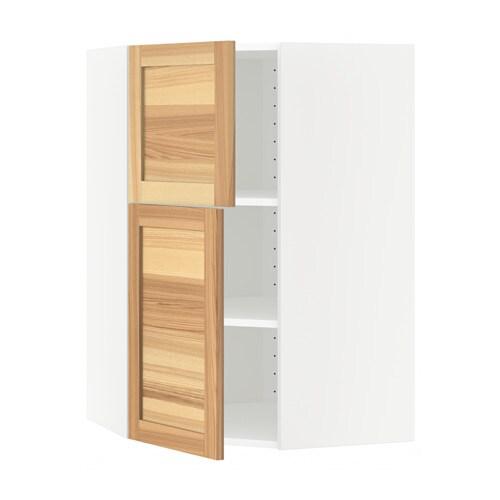 Cuisine Ikea Tours :  mural angle+tablettes2 ptes  blanc, Torhamn naturel frêne  IKEA