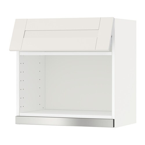 Metod l mural pr micro ondes blanc s vedal blanc for Meuble mural micro onde ikea