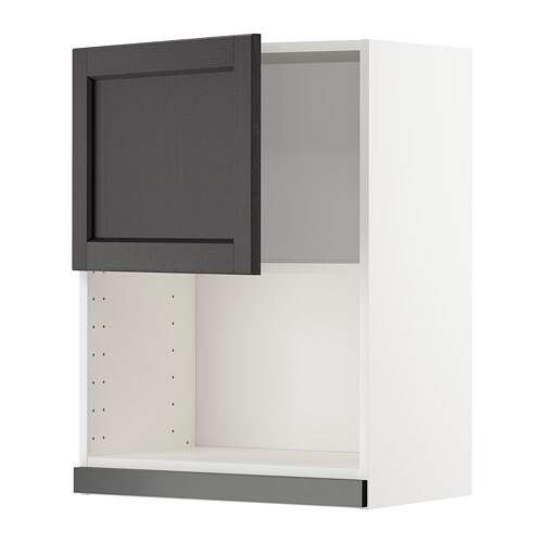 metod l mural pr micro ondes blanc lerh teint noir 60x80 cm ikea. Black Bedroom Furniture Sets. Home Design Ideas