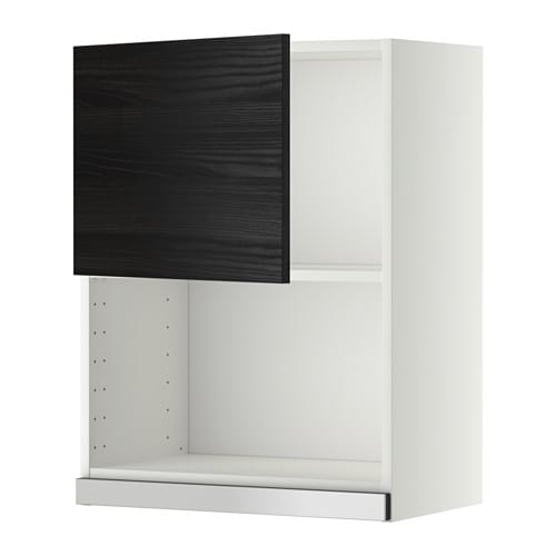 metod l mural pr micro ondes blanc tingsryd effet bois noir 60x80 cm ikea. Black Bedroom Furniture Sets. Home Design Ideas