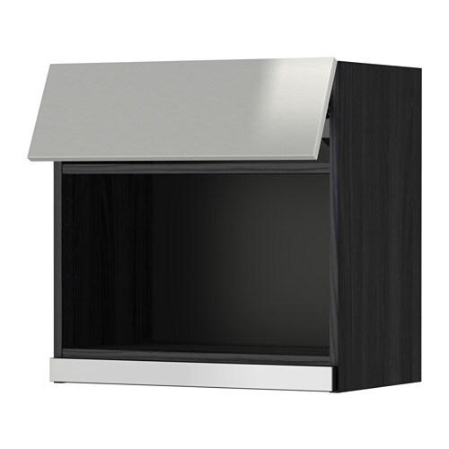 metod l mural pr micro ondes effet bois noir grevsta acier inoxydable 60x60 cm ikea. Black Bedroom Furniture Sets. Home Design Ideas