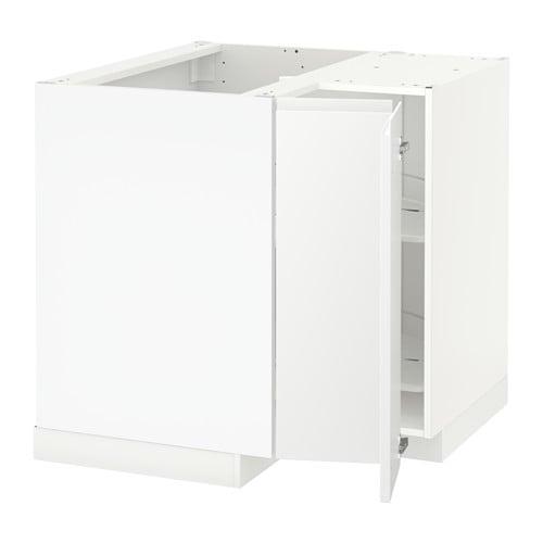 Metod Element Bas Angle Rgt Pivotant Blanc Veddinge Blanc Ikea
