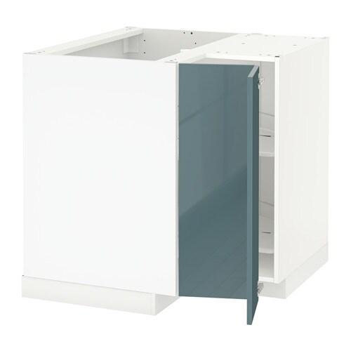 metod l ment bas angle rgt pivotant blanc kallarp brillant gris turquoise ikea. Black Bedroom Furniture Sets. Home Design Ideas