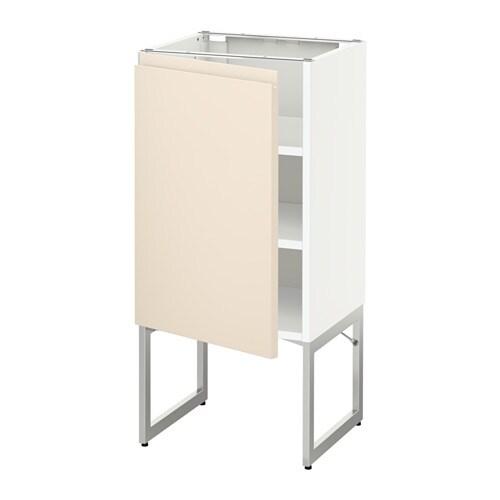 metod l ment bas avec tablettes blanc voxtorp beige clair 40x37x60 cm ikea. Black Bedroom Furniture Sets. Home Design Ideas