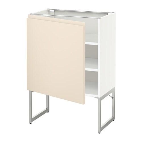 metod l ment bas avec tablettes blanc voxtorp beige clair 60x37x60 cm ikea. Black Bedroom Furniture Sets. Home Design Ideas