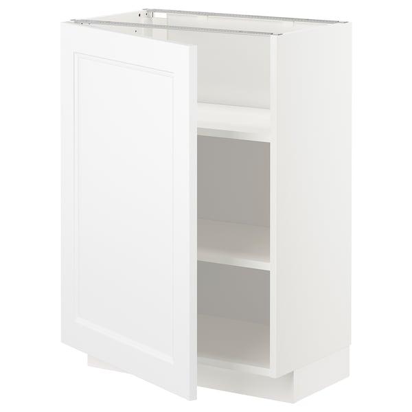 METOD Élément bas avec tablettes, blanc/Axstad blanc mat, 60x37 cm