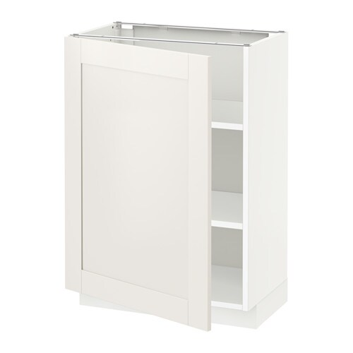 metod l ment bas avec tablettes blanc s vedal blanc 60x37 cm ikea. Black Bedroom Furniture Sets. Home Design Ideas