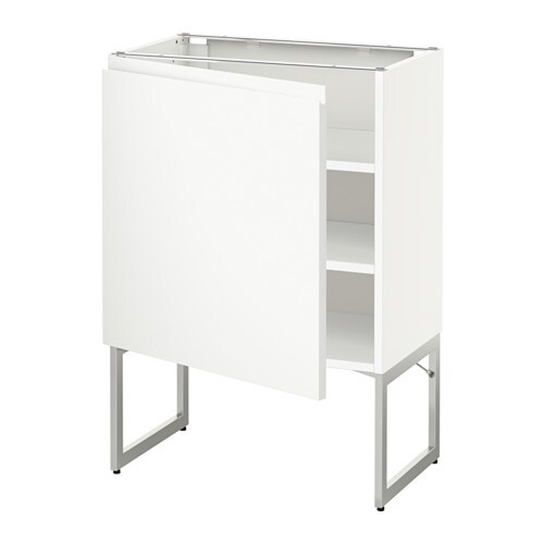 metod l ment bas avec tablettes blanc voxtorp blanc 60x37x60 cm ikea. Black Bedroom Furniture Sets. Home Design Ideas