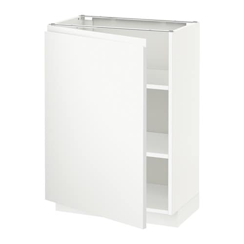 metod l ment bas avec tablettes blanc voxtorp blanc 60x37 cm ikea. Black Bedroom Furniture Sets. Home Design Ideas