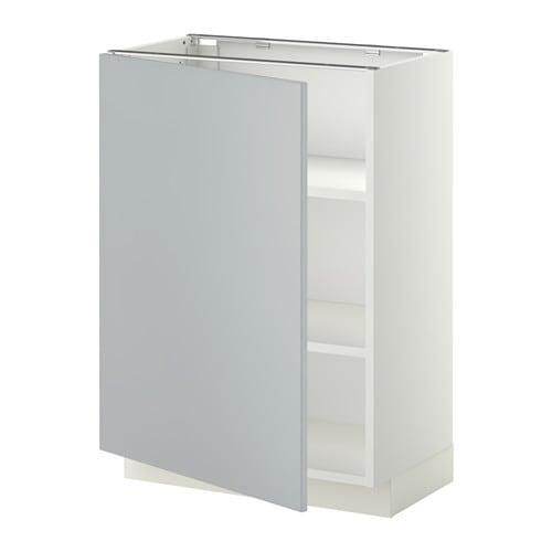 metod l ment bas avec tablettes blanc veddinge gris 60x37 cm ikea. Black Bedroom Furniture Sets. Home Design Ideas