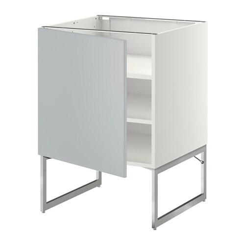 metod l ment bas avec tablettes blanc veddinge gris 60x60x60 cm ikea. Black Bedroom Furniture Sets. Home Design Ideas
