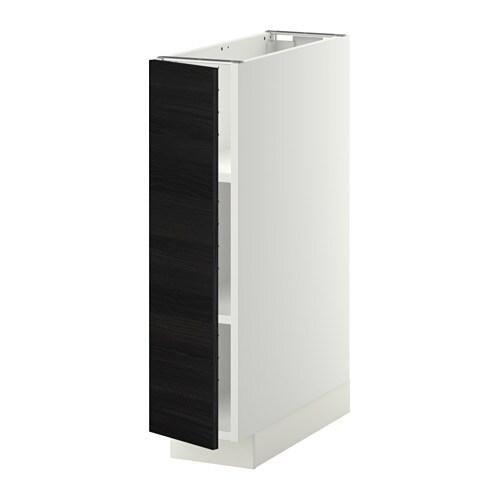 metod l ment bas avec tablettes blanc tingsryd effet. Black Bedroom Furniture Sets. Home Design Ideas