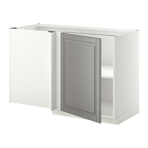 metod l ment bas d 39 angle tablette blanc bodbyn gris ikea. Black Bedroom Furniture Sets. Home Design Ideas