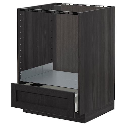 Metod Element Bas Pour Four Avec Tiroir Noir Lerhyttan Teinte Noir 60x60 Cm Ikea
