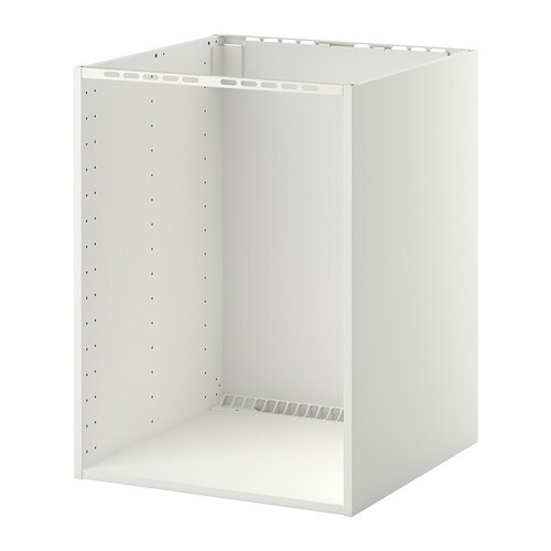 Metod l ment bas pr four vier encastr blanc 60x60x80 for Element cuisine encastrable