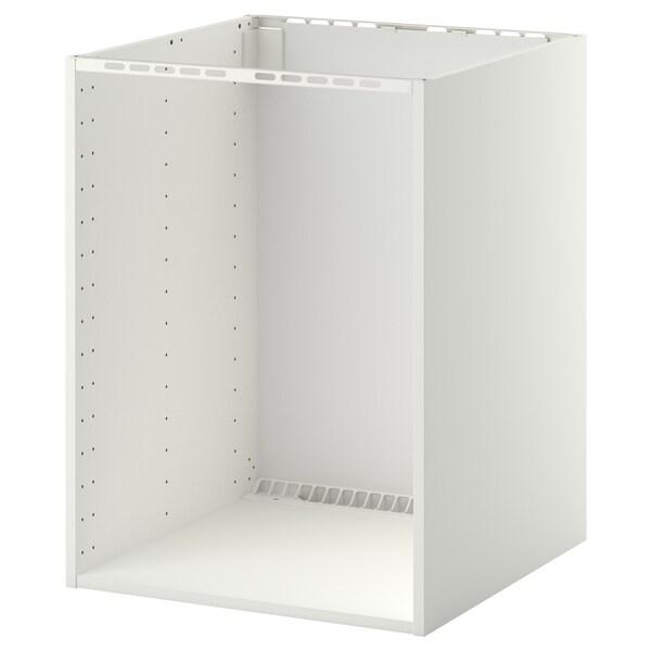 METOD Élément bas pr four/évier encastré, blanc, 60x60x80 cm