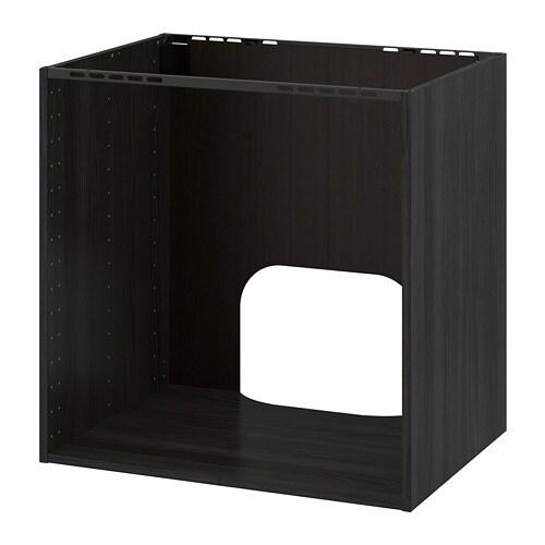 metod l ment bas pr four vier encastr effet bois noir. Black Bedroom Furniture Sets. Home Design Ideas