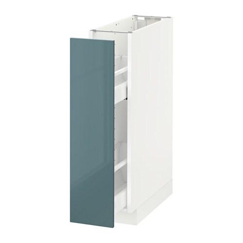 metod l ment bas rgts coulissants blanc kallarp brillant gris turquoise ikea. Black Bedroom Furniture Sets. Home Design Ideas