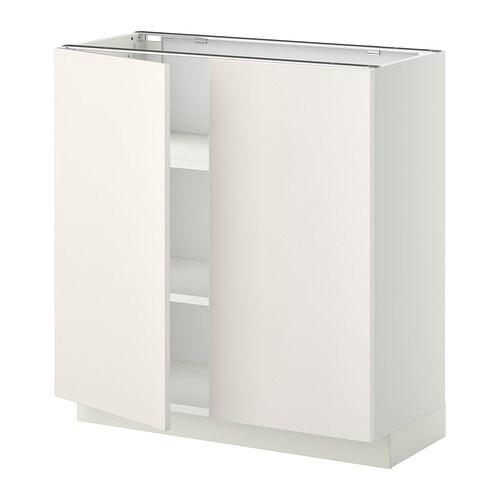 metod l ment bas tablette 2portes blanc veddinge blanc 80x37 cm ikea. Black Bedroom Furniture Sets. Home Design Ideas