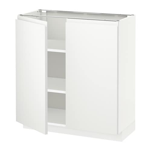 metod l ment bas tablette 2portes blanc voxtorp blanc 80x37 cm ikea. Black Bedroom Furniture Sets. Home Design Ideas