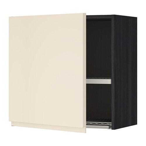 metod l ment mural avec gouttoir effet bois noir 60x60 cm voxtorp beige clair ikea. Black Bedroom Furniture Sets. Home Design Ideas