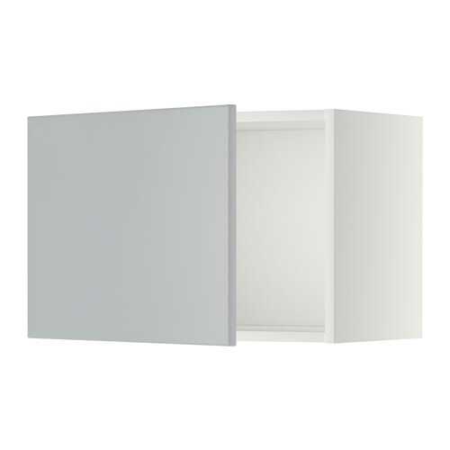 Metod l ment mural blanc veddinge gris 60x40 cm ikea - Ikea element mural cuisine ...