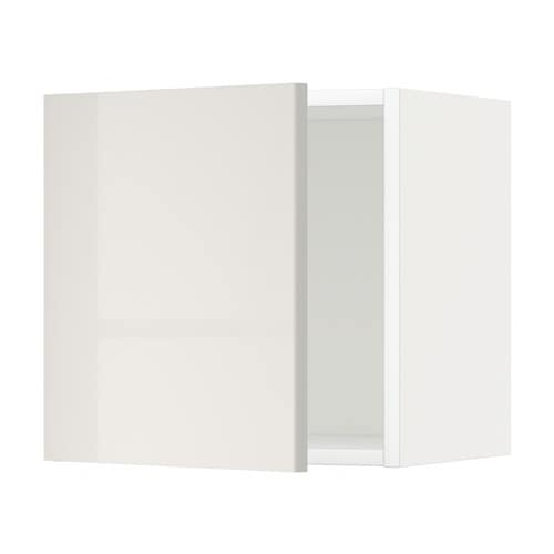 metod l ment mural blanc ringhult brillant gris clair 40x40 cm ikea. Black Bedroom Furniture Sets. Home Design Ideas