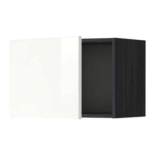 metod l ment mural effet bois noir ringhult brillant blanc 60x40 cm ikea. Black Bedroom Furniture Sets. Home Design Ideas