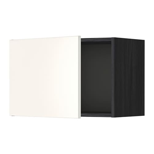 metod l ment mural effet bois noir veddinge blanc 60x40 cm ikea. Black Bedroom Furniture Sets. Home Design Ideas