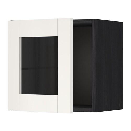 Metod l ment mural porte vitr e effet bois noir - Element mural porte coulissante ...