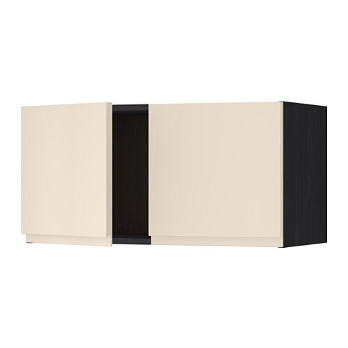 metod l ment mural 2 portes effet bois noir voxtorp beige clair ikea. Black Bedroom Furniture Sets. Home Design Ideas
