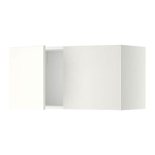 metod l ment mural 2 portes blanc h ggeby blanc ikea. Black Bedroom Furniture Sets. Home Design Ideas
