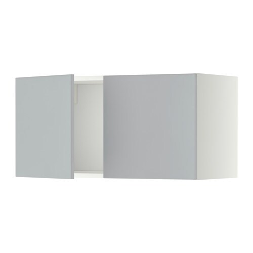metod l ment mural 2 portes blanc veddinge gris ikea. Black Bedroom Furniture Sets. Home Design Ideas