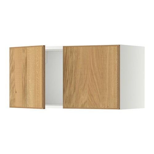 metod l ment mural 2 portes blanc hyttan plaqu ch ne ikea. Black Bedroom Furniture Sets. Home Design Ideas