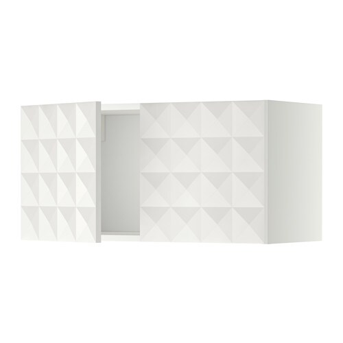metod l ment mural 2 portes blanc herrestad blanc ikea. Black Bedroom Furniture Sets. Home Design Ideas