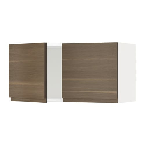 metod l ment mural 2 portes blanc voxtorp motif noyer ikea. Black Bedroom Furniture Sets. Home Design Ideas
