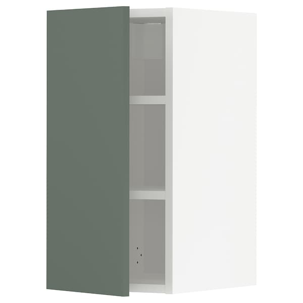 METOD Élément mural + tablettes, blanc/Bodarp gris vert, 30x60 cm