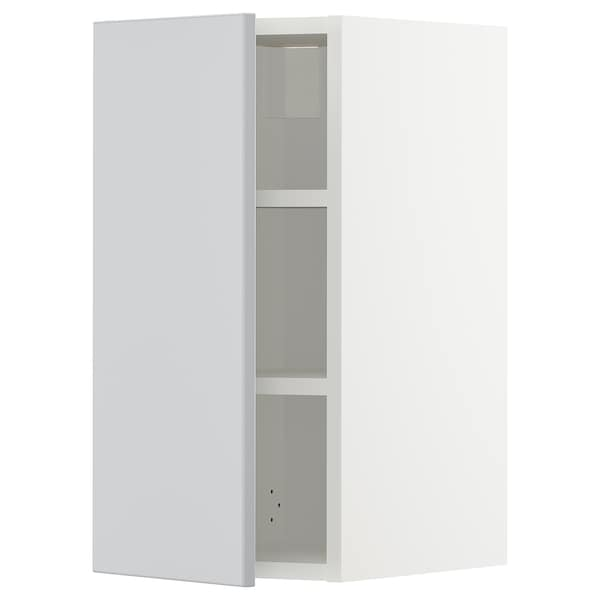 METOD Élément mural + tablettes, blanc/Veddinge gris, 30x60 cm