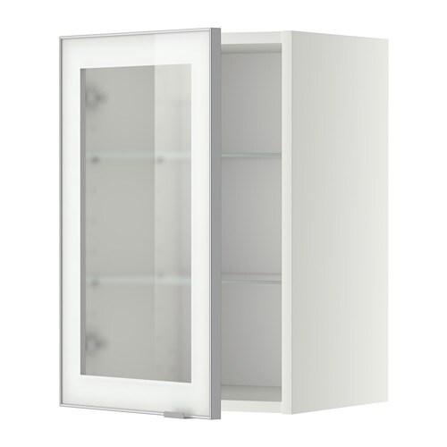 Metod l ment mural tablettes pte vitr e blanc jutis for Ikea porte 60 x 70