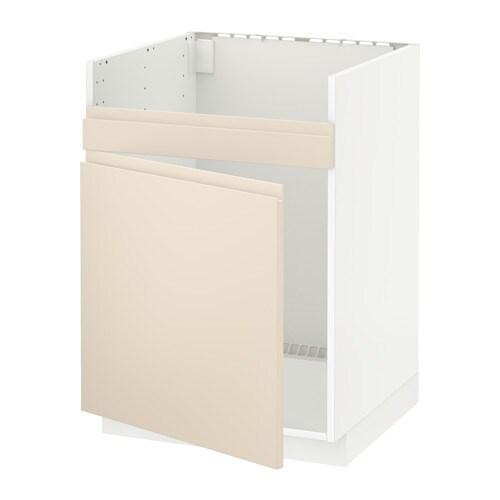 metod l ment pour vier domsj 1 bac blanc voxtorp beige clair ikea. Black Bedroom Furniture Sets. Home Design Ideas