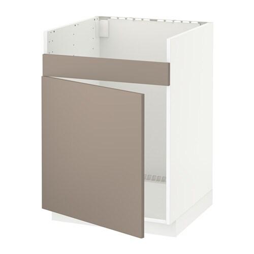 metod l ment pour vier domsj 1 bac blanc ubbalt beige fonc ikea. Black Bedroom Furniture Sets. Home Design Ideas