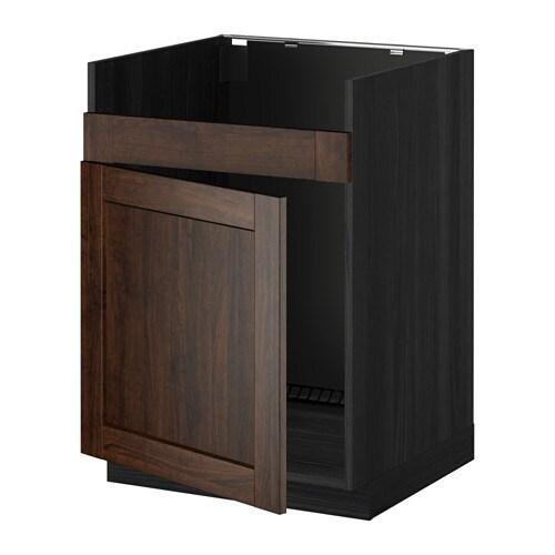 metod l ment pour vier domsj 1 bac effet bois noir edserum effet bois brun ikea. Black Bedroom Furniture Sets. Home Design Ideas