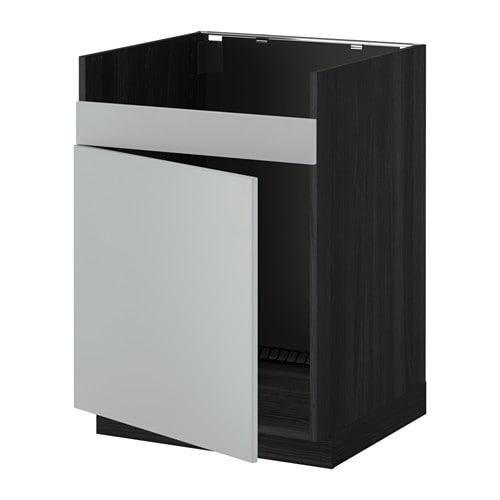 metod l ment pour vier domsj 1 bac effet bois noir veddinge gris ikea. Black Bedroom Furniture Sets. Home Design Ideas