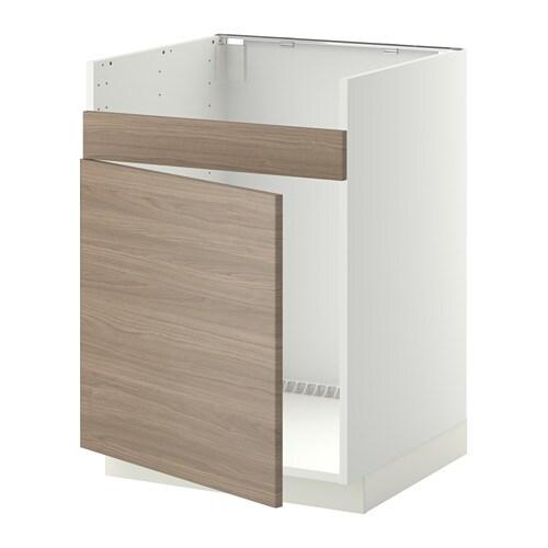 metod l ment pour vier domsj 1 bac blanc brokhult motif noyer gris clair ikea. Black Bedroom Furniture Sets. Home Design Ideas